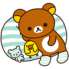 Relaxing days line stickers. Transparent rilakkuma lazy picture free download
