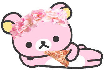 Transparent rilakkuma cute. Kawaii my edit pink
