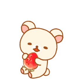 Transparent rilakkuma cute. Tumblr rilakkumakorilakkumakiiroitorikogumachancuteteddy bearstrawberrytransparentmy edit