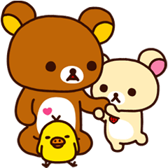 Good friends line stickers. Transparent rilakkuma lazy banner black and white library