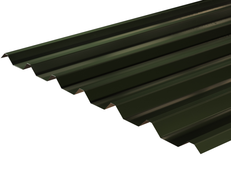 Transparent roofing corrugated. Sheets metal