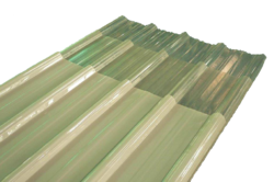 Transparent roofing tinted corrugated plastic. Polycarbonate sheet at rs