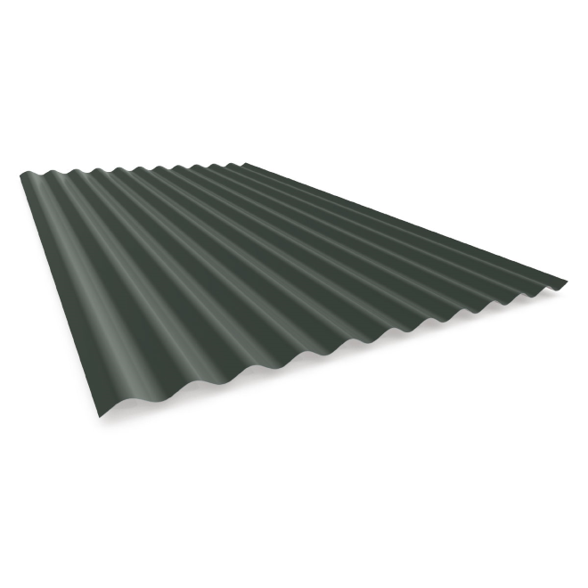 Transparent roofing tinted corrugated plastic. Mm bmt slate grey