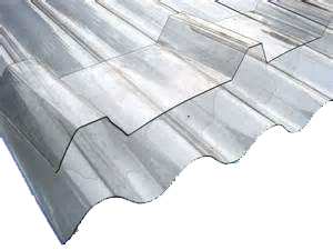 Transparent roofing clear poly