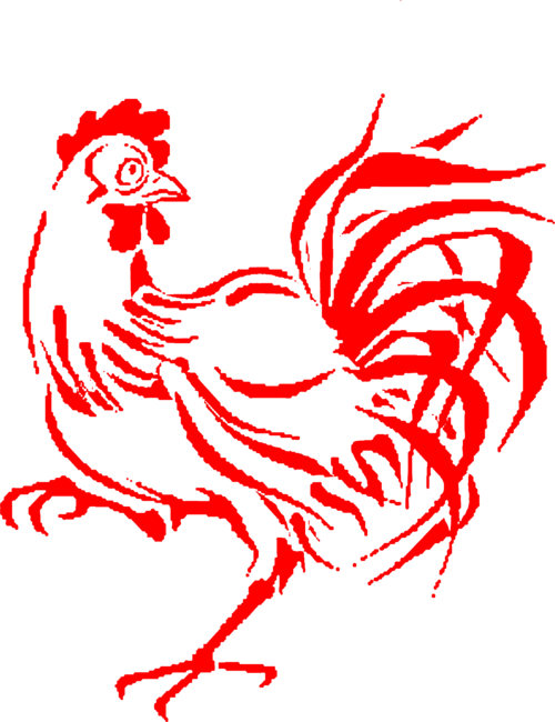 Transparent rooster red. The lrrvc twitter