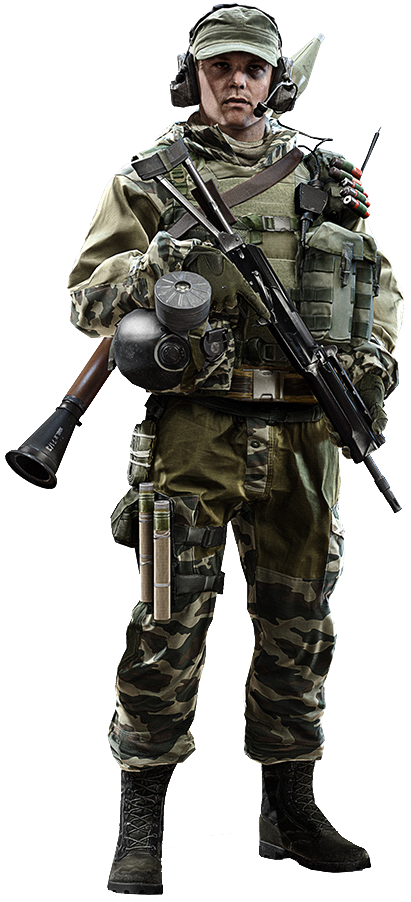 Transparent soldier background. High res character models