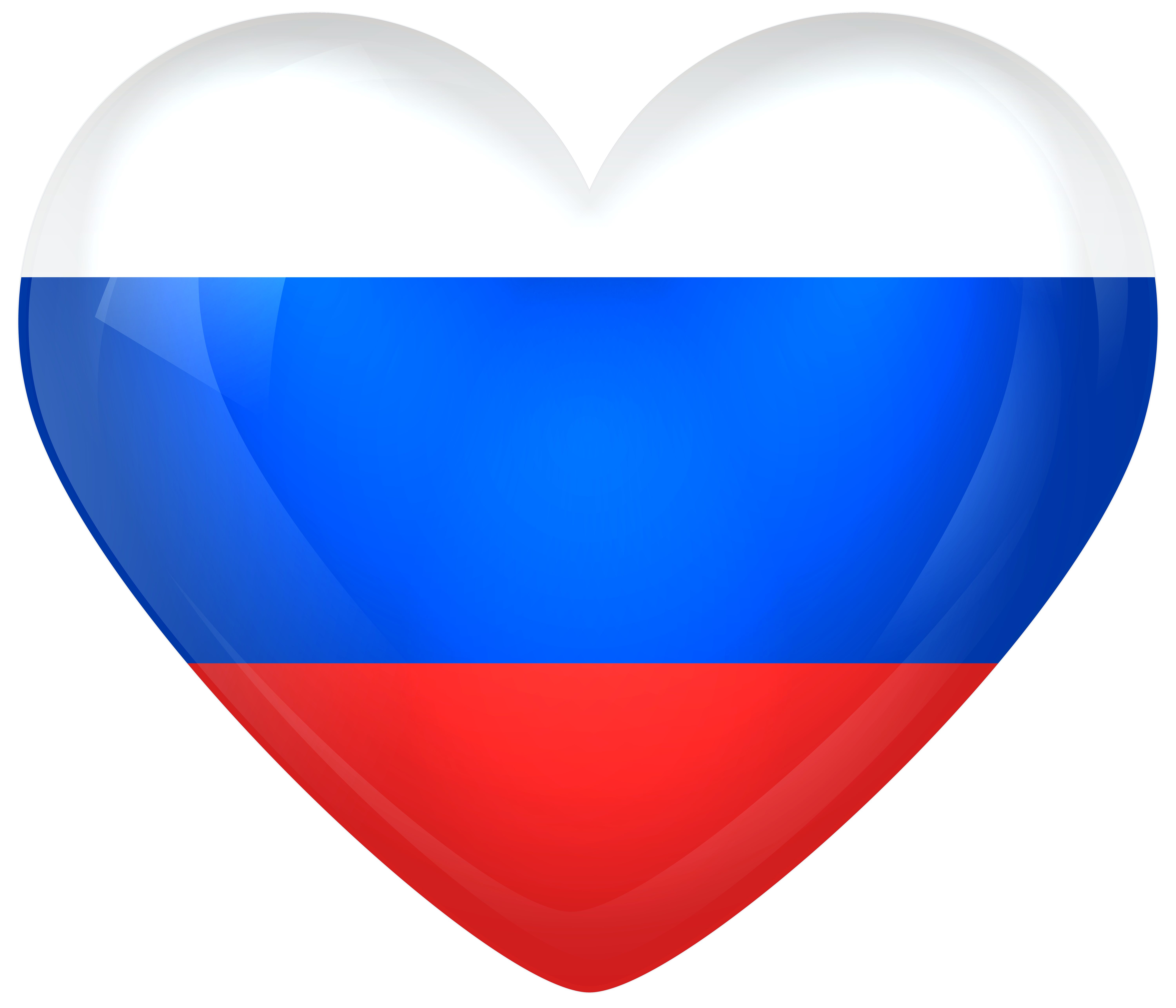 Transparent russian png. Russia large heart flag