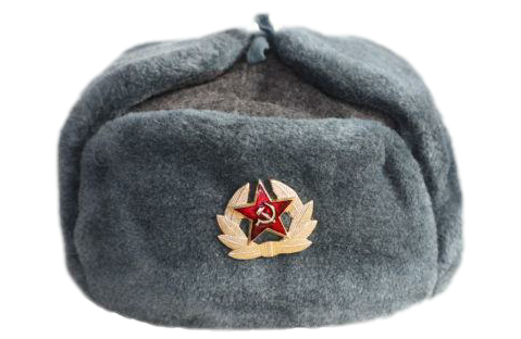 Transparent russian hat. Soviet russia sticker by