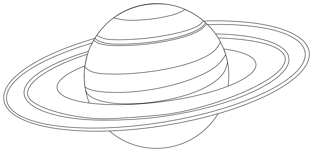 Transparent saturn color. To space solar system