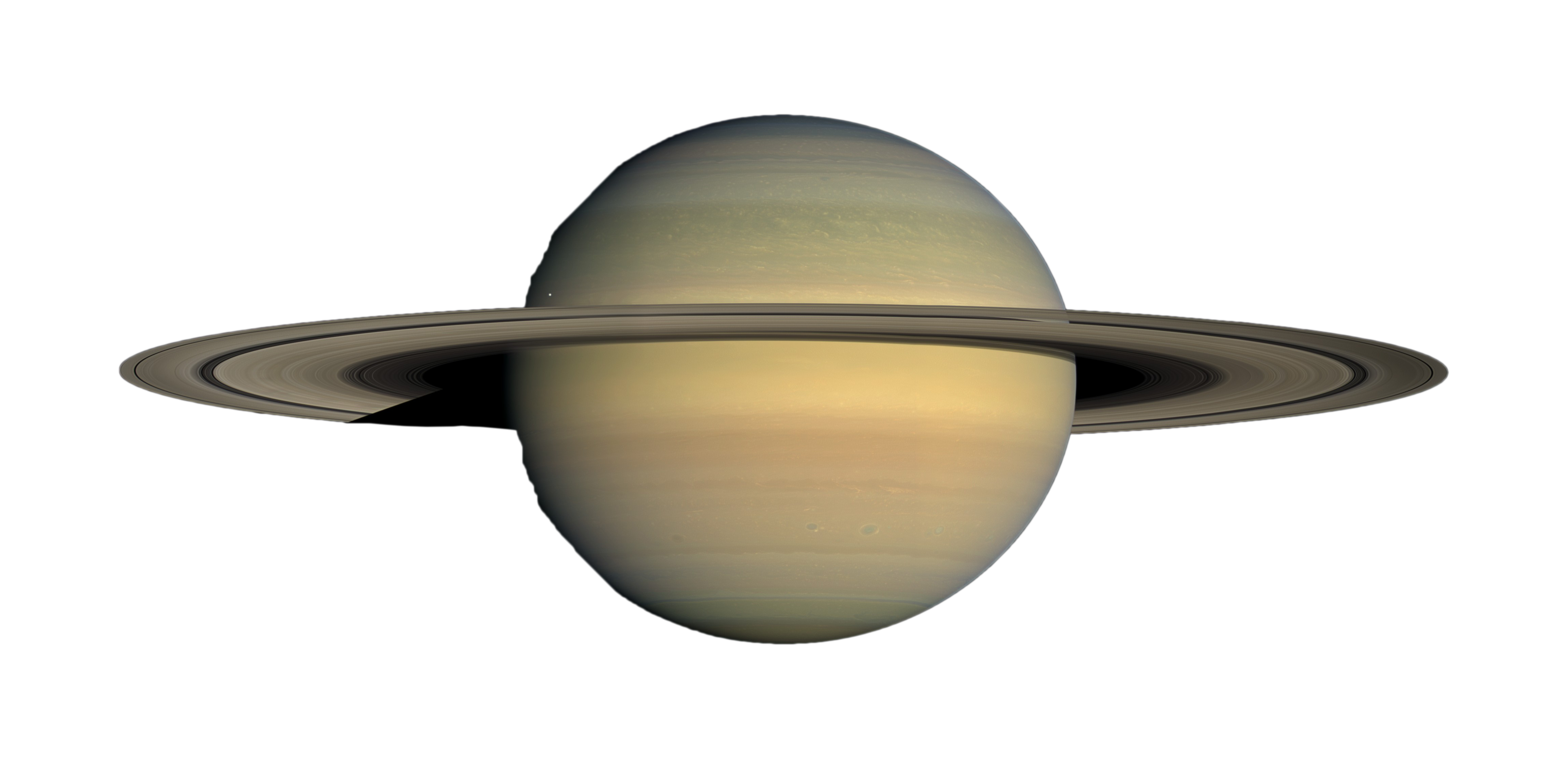 Transparent saturn gas giant.