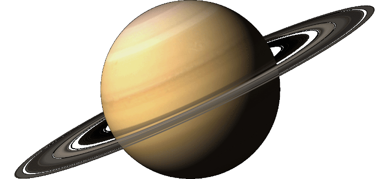 Transparent saturn realistic. Vector library colorful