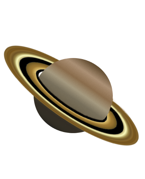 Transparent saturn white background. Vector library black