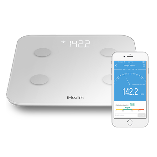 Transparent scales body. Composition scale wifi weight