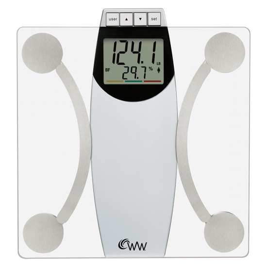 Transparent scales body. Weight watchers by conair