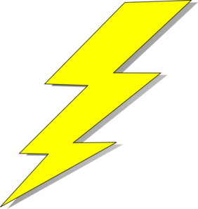 Transparent scars lightning bolt. Collection of free drawing