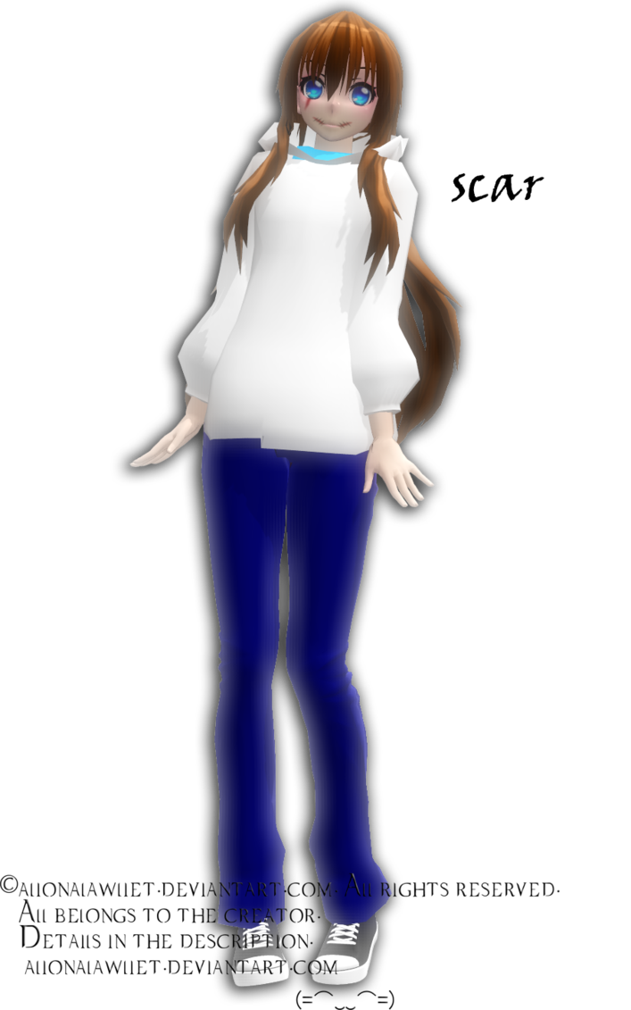 Dl rq scar by. Transparent scars mmd png stock