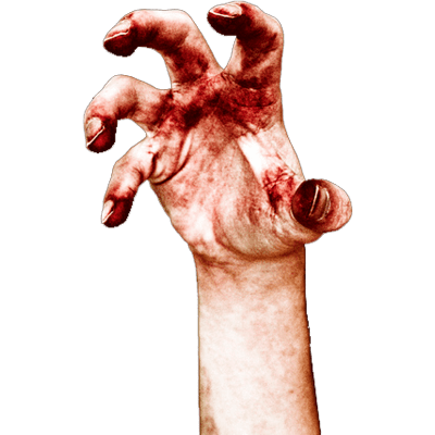 Transparent scars zombie. Halloween png images stickpng