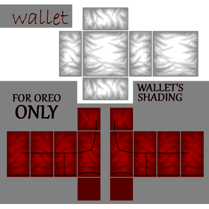 Transparent shading roblox suit. Red pants