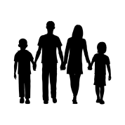 Transparent shadows family. Design gift idea by