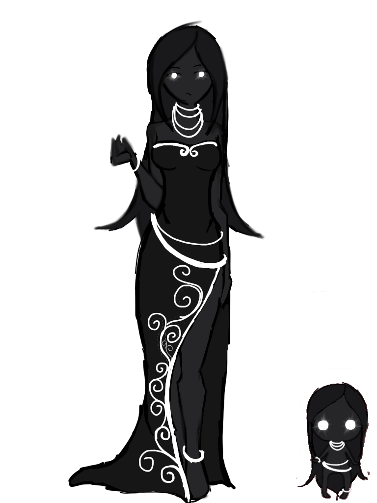 Demonic drawing shadow. Eos demons by final