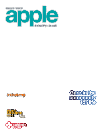 Transparent sidebar fall. Apple magazine front cover