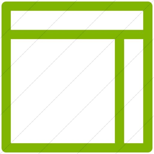 Transparent sidebar simple. Iconsetc green layouts outline