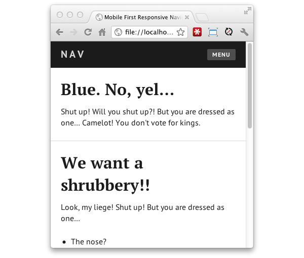 Transparent sidebar simple. A responsive mobile first