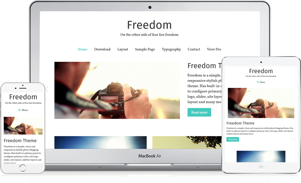 Transparent sidebar simple. Freedom free responsive photography