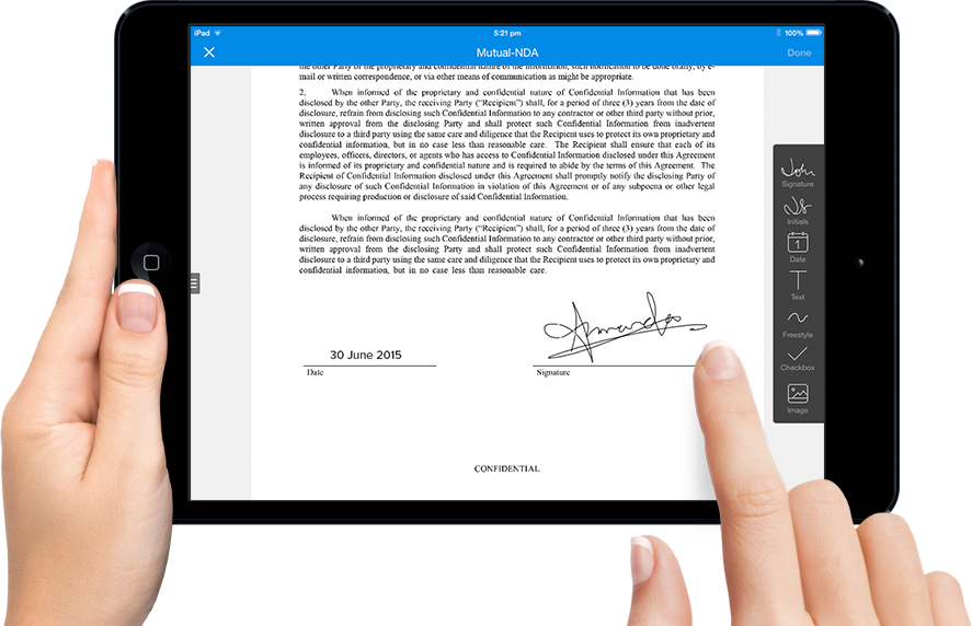 The e signature solution. Transparent signatures electronic picture library library