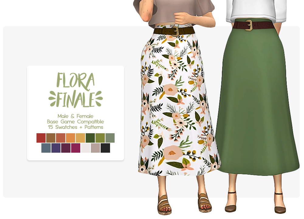 Transparent skirts sims 4. Flora finale skirt by