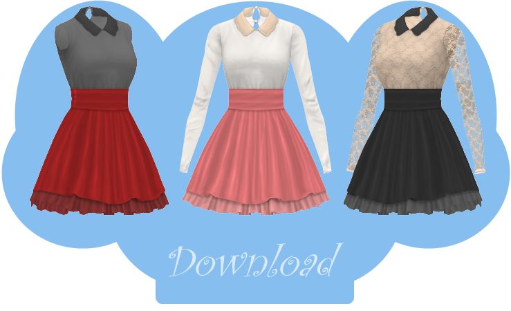 Transparent skirts sims 4. Mmd collared dress dl