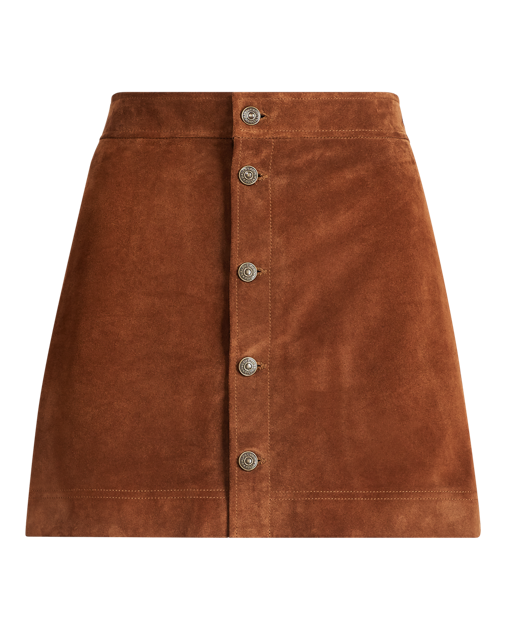 Transparent skirts suede. Buttoned miniskirt produtimage