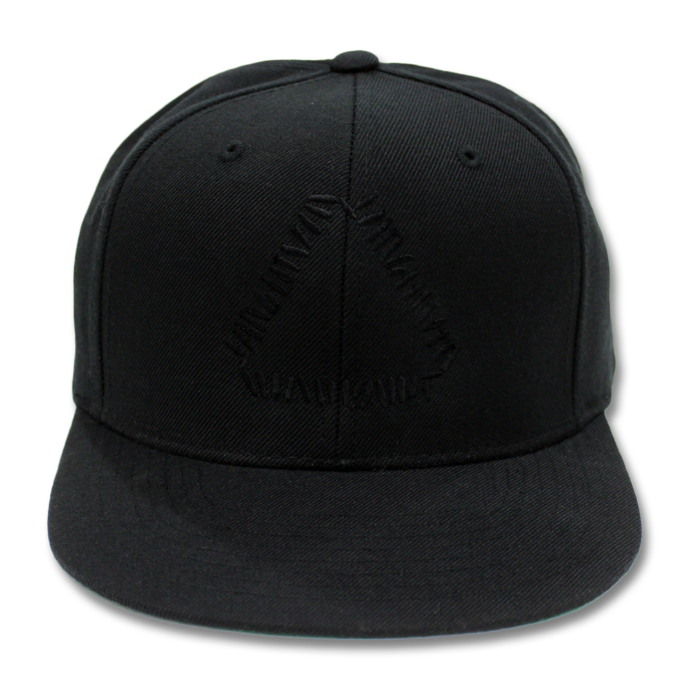 Transparent snapback black. Official warpaint embroidered triangle