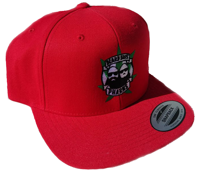 Transparent snapback red. Beard bros pharms hat