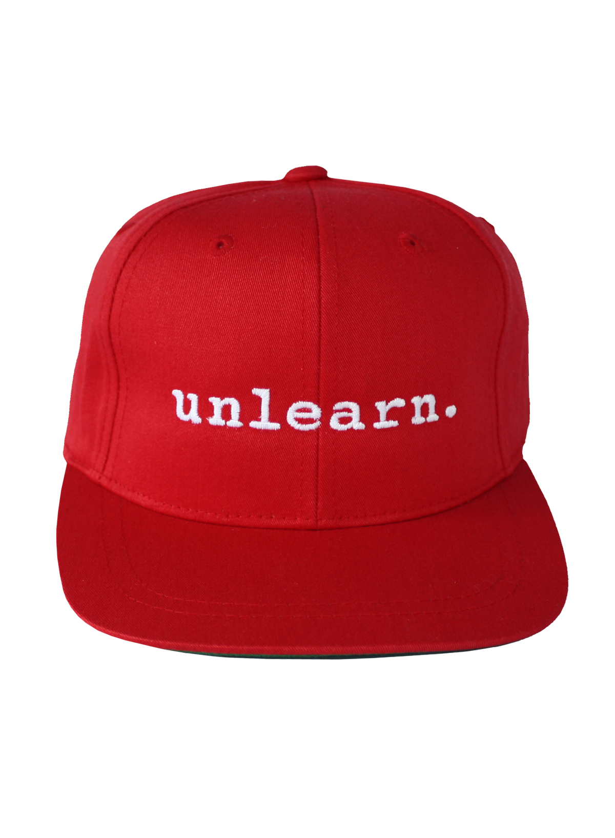 Transparent snapback red. Unlearn youth hat