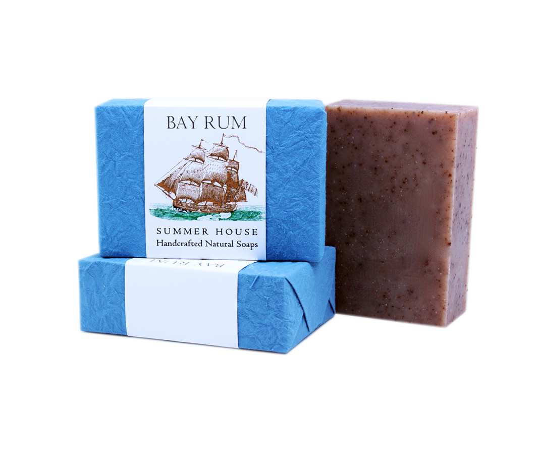 Transparent soaps blue. Summer house bay rum