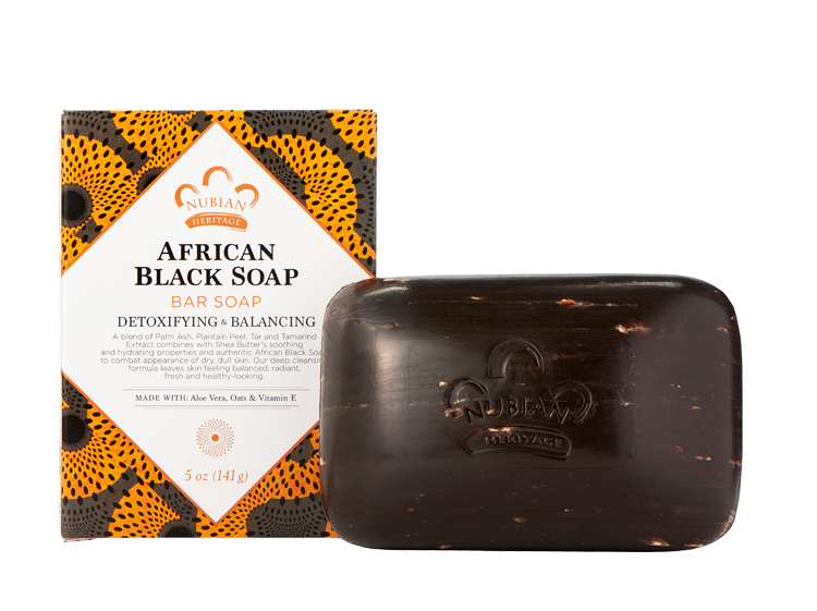 Transparent soaps black. Nubian heritage wellness collection