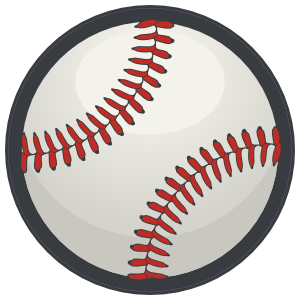 Transparent softball color. Baseball or with wings