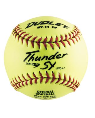 Transparent softball giant. Spalding true to the