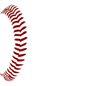 Transparent softball vector. Red laces clip art