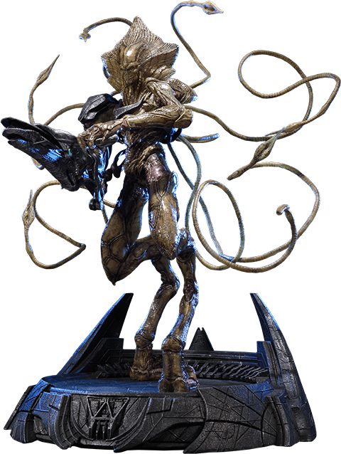 Transparent soldier alien. Independence day resurgence polystone