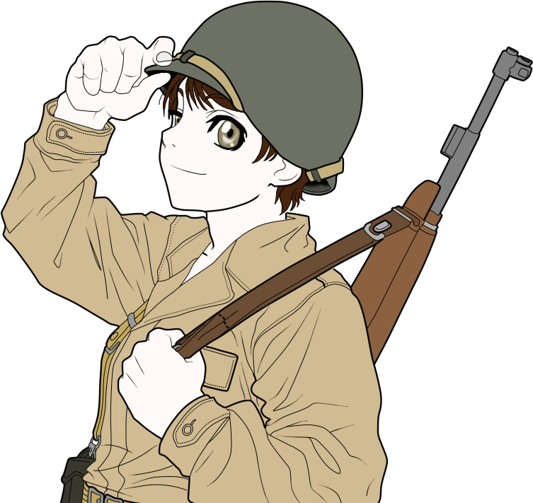 Transparent soldier line. American base color by