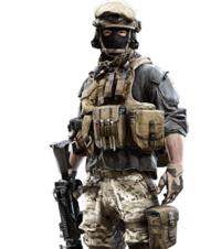 Transparent soldier marine. Military skins mapping and