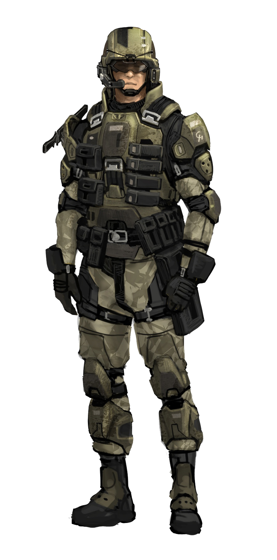 Transparent soldier marine. Anyone want new old