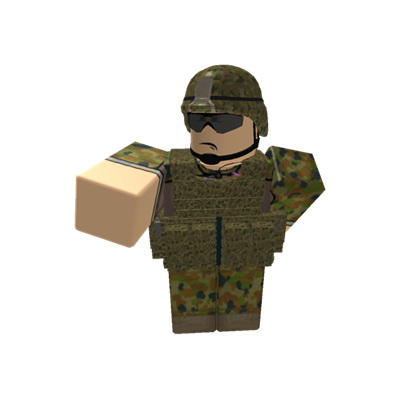 Transparent soldier roblox. Australian army pointing