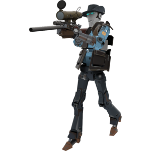 Transparent soldier robot. Sniper official tf wiki