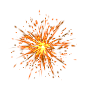 Transparent spark. Fire png by dbszabo