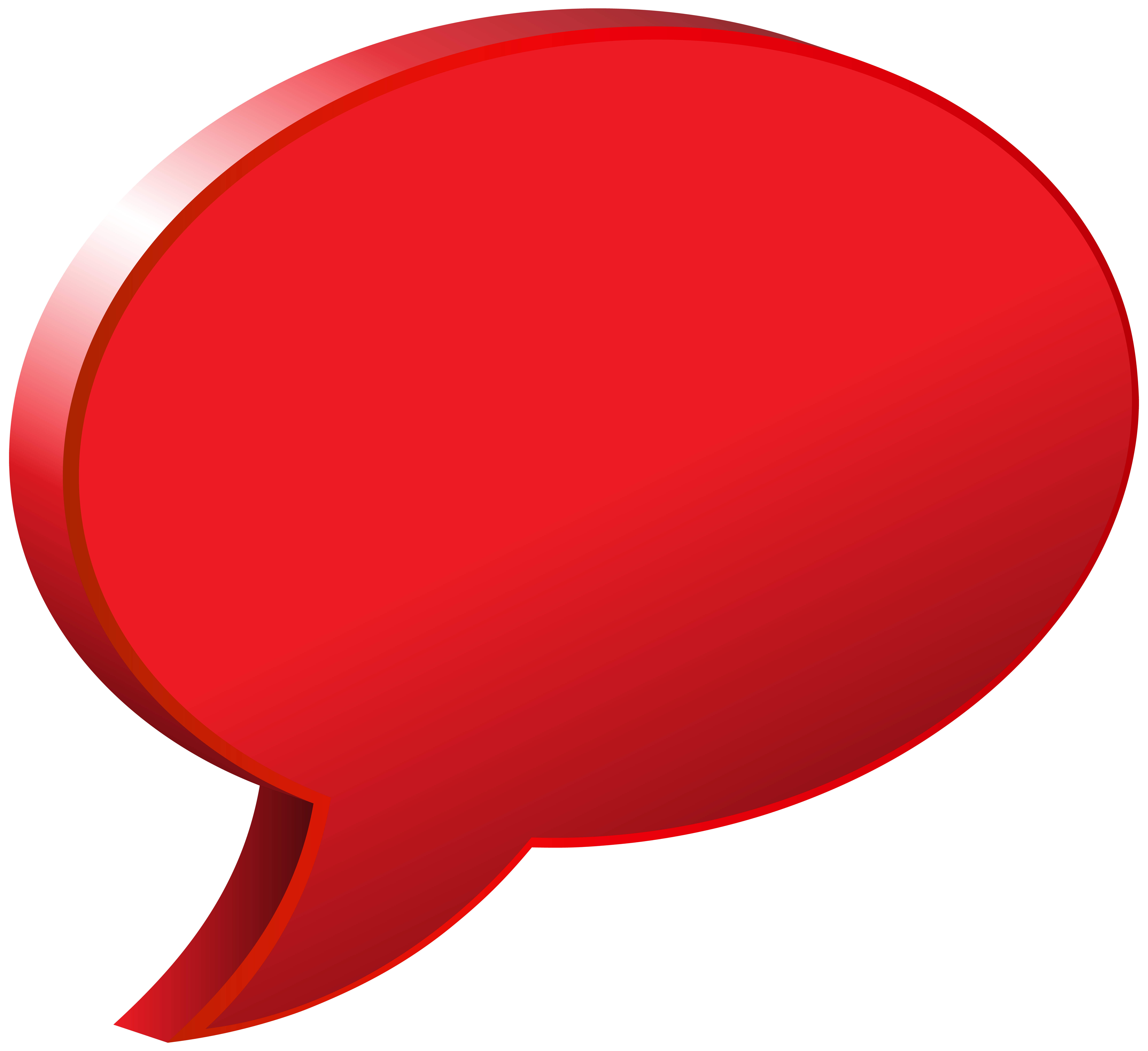 Transparent speech bubble png. Red image gallery yopriceville