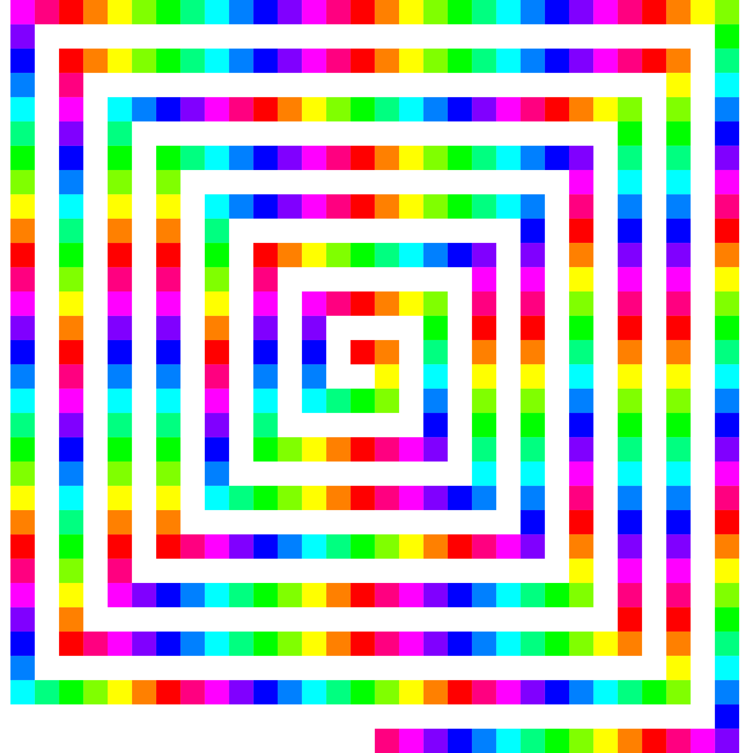 Transparent spiral colorful. Color square icons