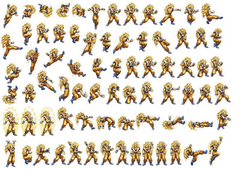 Transparent sprite goku. Dbz ssj sheet by